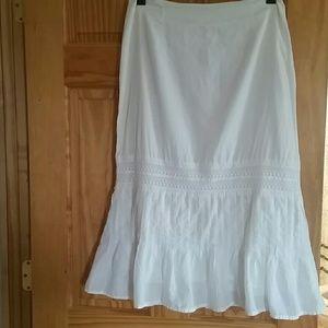 Whitewash long skirt